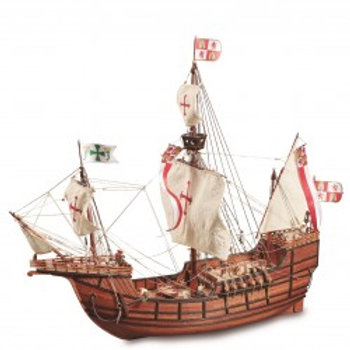 Wooden Ship Model: New Santa Maria Caravel 1/65