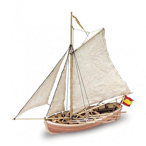Wooden Model Ship Kit: San Juan Nepomuceno's Boat 1/25