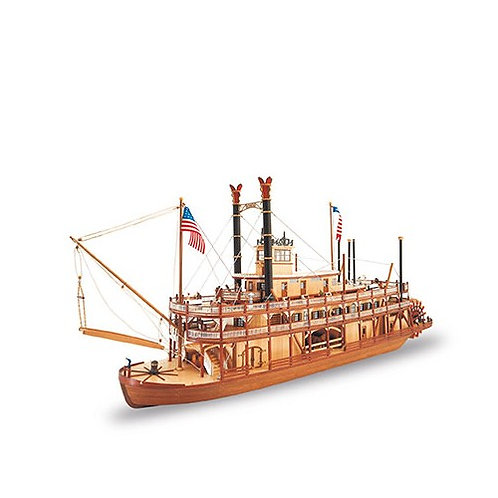 Wooden Model Ship: King of the Mississippi II Steamboat 1/80