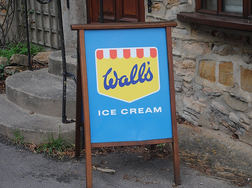 Vintage Wall's Ice Cream Shop Sign