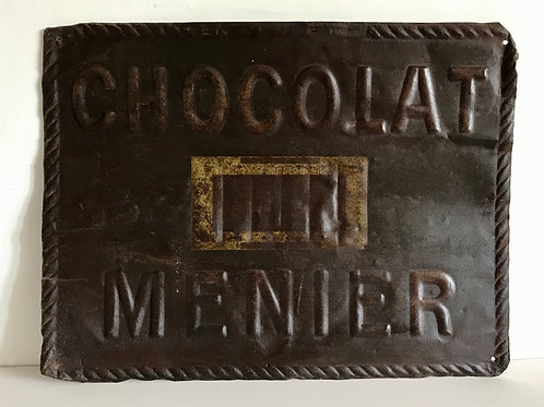Vintage Tin Advertising Sign 'Chocolat Menier'