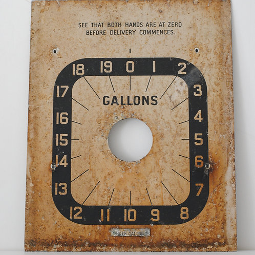 Vintage Gallons Sign