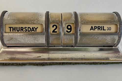 Vintage Perpetual Desk Calendar