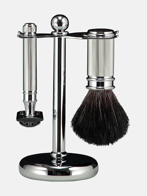 Shaving Set - Double Edged Safety Razor - Chrome