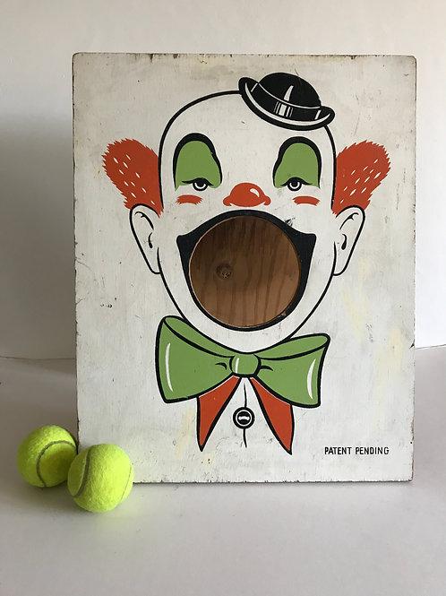 Clown Fairground Throwing Game Vintage Fairground Game