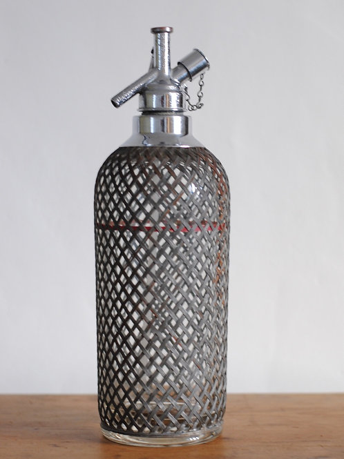 Vintage Wire Mesh Soda Syphon