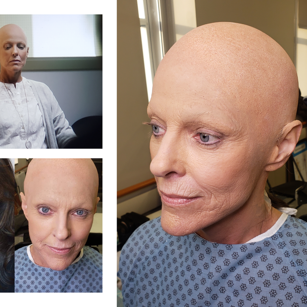 Bald Cap and Brow Cover