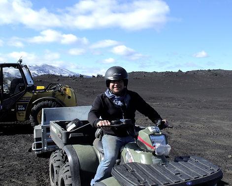 In Iceland on Prometheus on my vehicle of choice