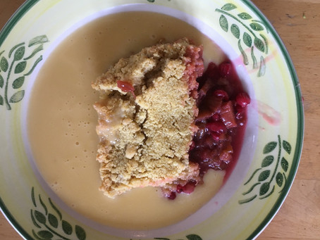 Recipe: Rhubarb crumble