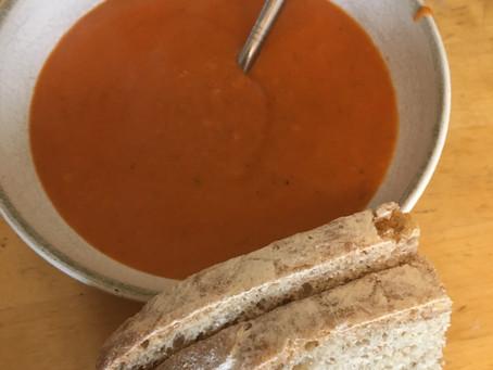 Recipe: Rhubarb and tomato soup (vegetarian/ vegan)