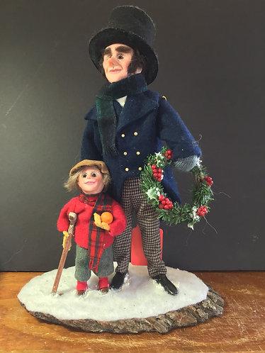 Bob Crachit and Tiny Tim