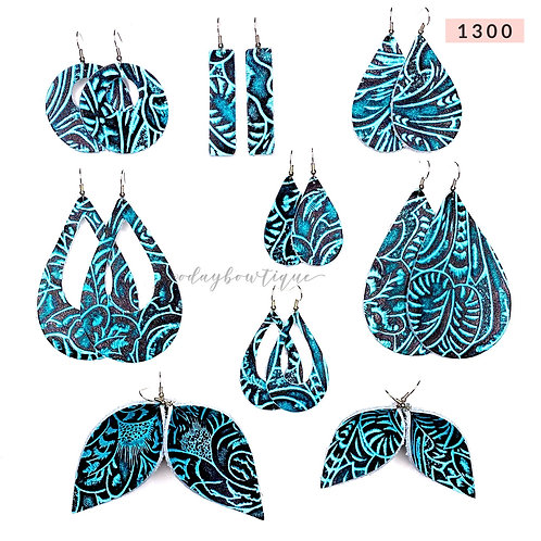 Leather Earrings: Rodeo Ready: 1300: By O'Day Bowtique