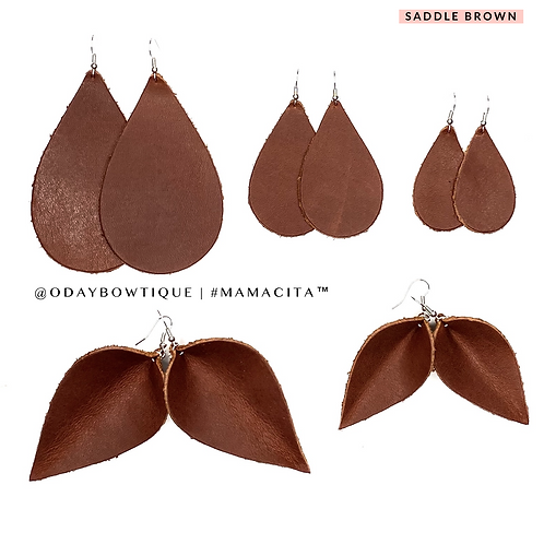 Leather Earrings: Chocolate 🍫 Cake 🎂: 444: By O'Day Bowtique