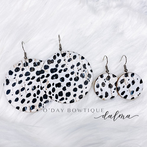 Leather Earring: Everygreen: Dalma: By O'Day Bowtique