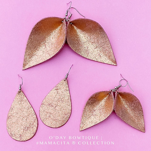 Leather Earrings: February: Love Struck: By O'Day Bowtique
