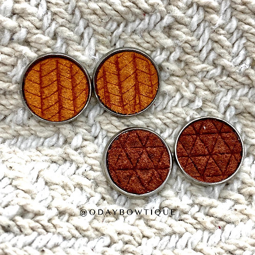Leather Earrings: It's Fall 🌿Y'all: By O'Day Bowtique