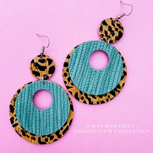 Leather Earrings: She's Got Presence: By O'Day Bowtique