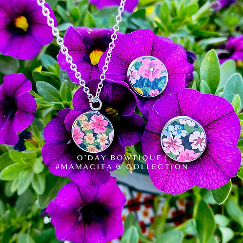 Leather Earrings/Pendant Adorn: Blossom : By O'Day Bowtique