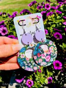 Leather Earrings: She Blooms : By O'Day Bowtique