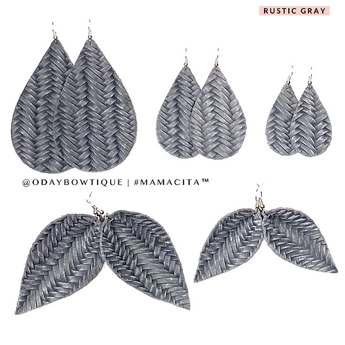 Leather Earrings: She's a neutral 🤩: 212: By O'Day Bowtique