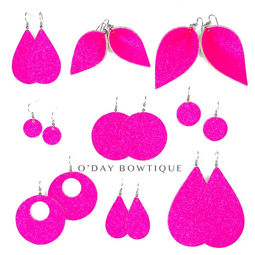Leather Earrings: 100% THAT BOSS: By O'Day Bowtique