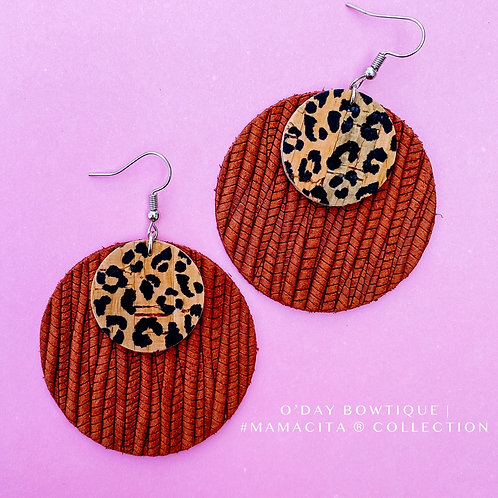 Leather Earrings: Foxy: By O'Day Bowtique