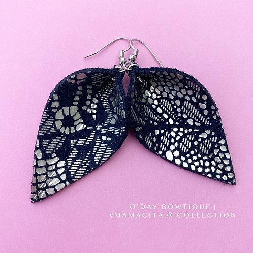 Leather Earrings: Hey Lacey: By O'Day Bowtique