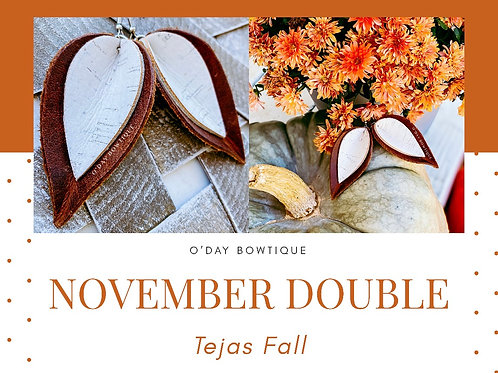 Leather Earrings: 🍃Tejas Fall 🍃: November Double: By O'Day Bowtique