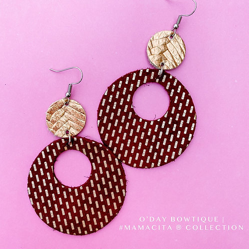 Leather Earrings: She's A Brick House: By O'Day Bowtique