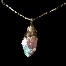 Rainbow Aura Quartz Pendant, Rainbow Aura Quartz Necklace, Gemstone Pendant