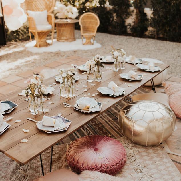 Low Desert Farm Table