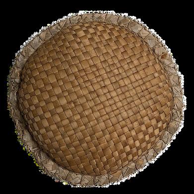 Wicker petite round pillow
