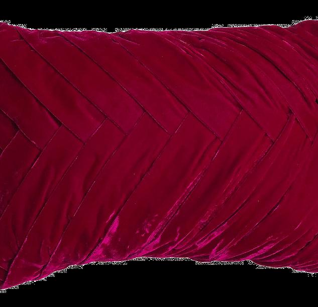 Maggie fushia velvet pillow