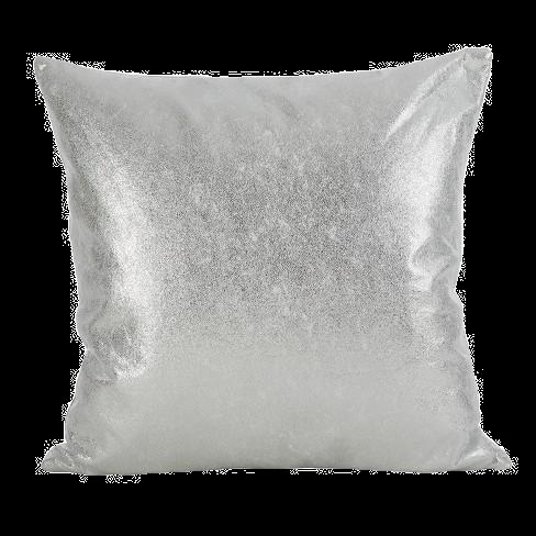 Silver metallic pillow