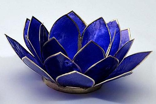 Lotusblomma indigoblå, ljuslykta