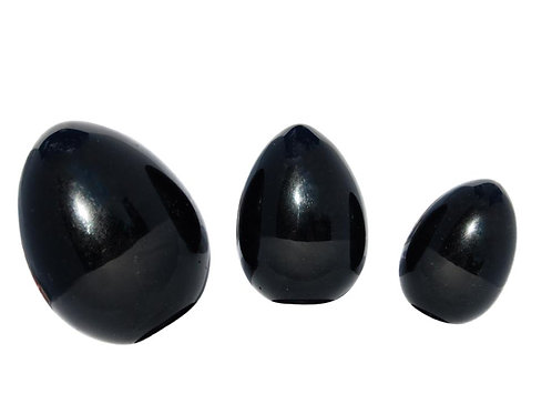 Yoniägg - Obsidian - medium