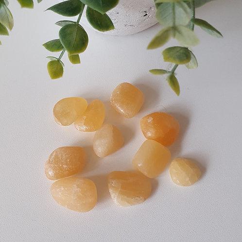 Kalcit gul - trumlad sten