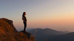 På bergets topp