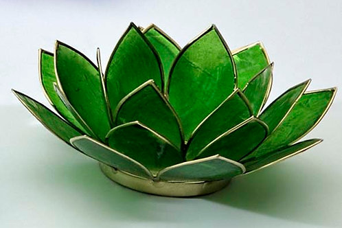 Lotusblomma grön, ljuslykta