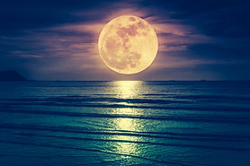 Super moon. Colorful sky with cloud and