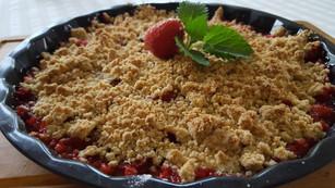 Smulpaj med jordgubbar