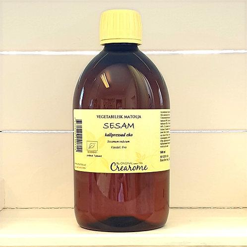 Sesamolja kallpressad eko, 500 ml