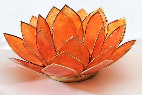 Lotusblomma orange, ljuslykta