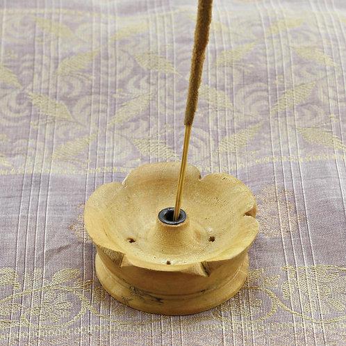 Rökelsehållare Lotus, trä