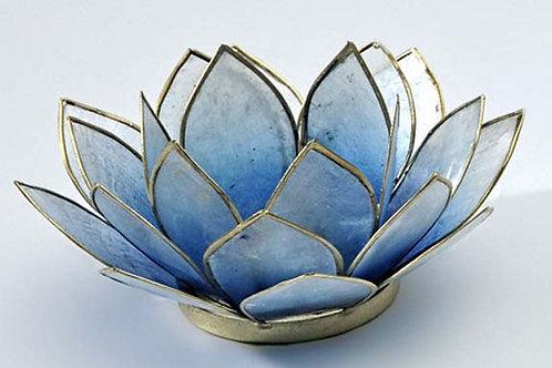 Lotusblomma blå, ljuslykta