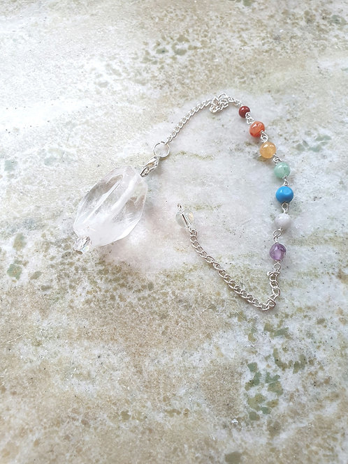 Pendel Bergskristall & chakra