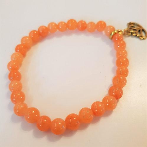 Armband - orange JADE