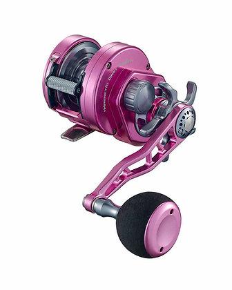 Maxel Ocean Max HY25 Hybrid Lever Drag Fishing Pink Reel