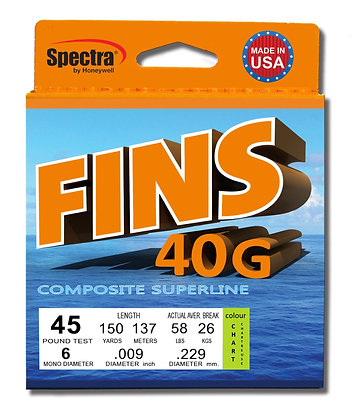Fins 40G Braid 1500 Yard Spool