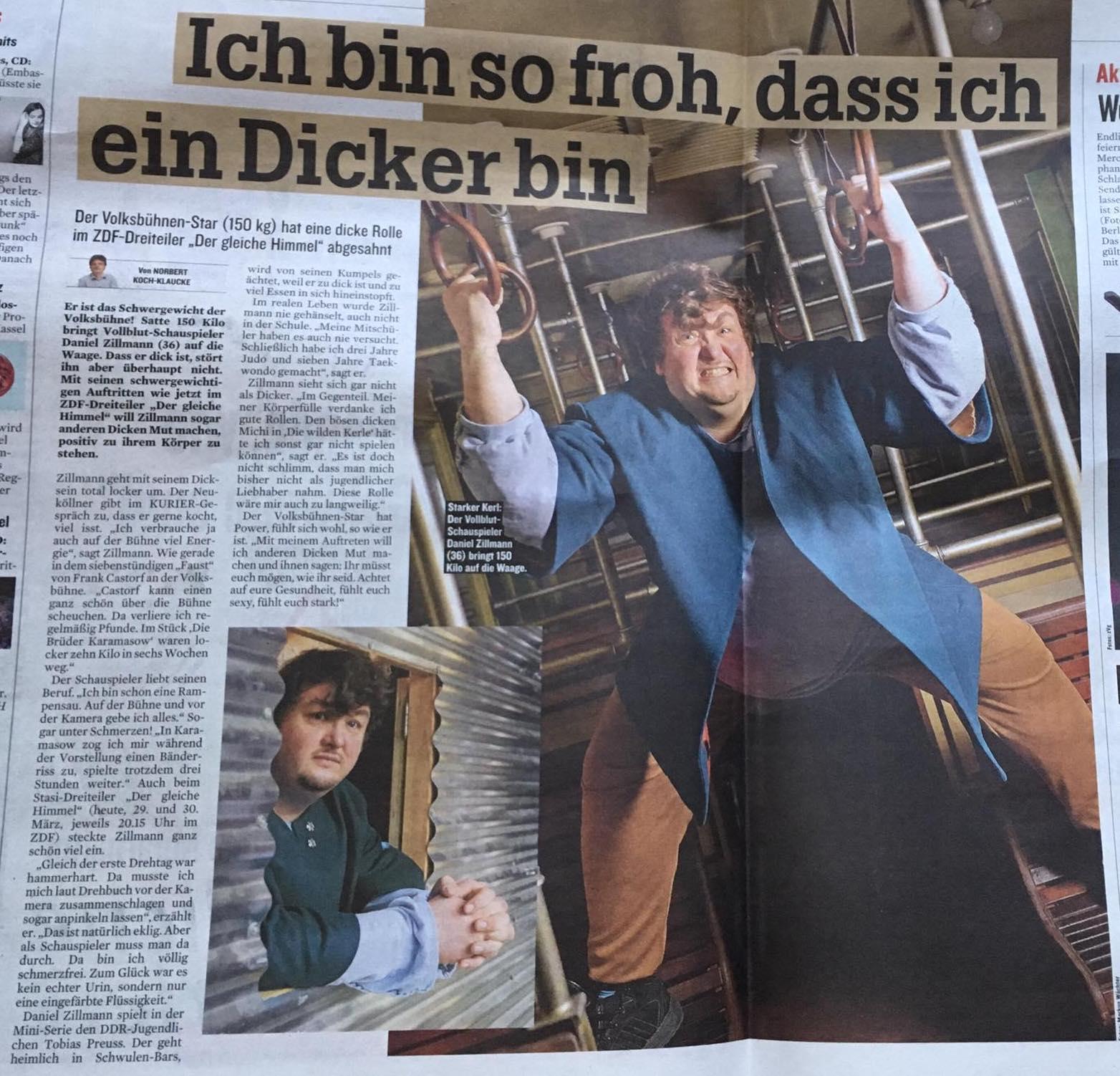 Daniel Zillmann @ Berliner Kurier
